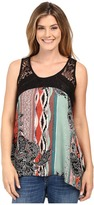 Scully Charlane Paisley and Lace Tank Top