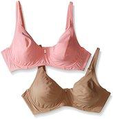 Ellen Tracy Women's 2 Pack Soft Lined Underwire Bra