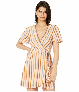 BCBGeneration Women's Riviera Stripe Wrap Dress