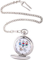 JCPenney FINE JEWELRY Unisex Silver Tone Bracelet Watch-41477-S