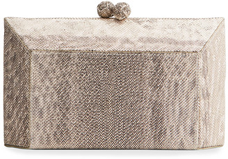 Nancy Gonzalez Gramercy Faceted Karung Box Clutch Bag
