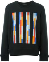 Christopher Kane embroidered striped sweatshirt