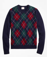 Brooks Brothers Lambswool Argyle Crewneck Sweater