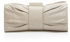 Sondra Roberts Metallic Pleated Bow Clutch