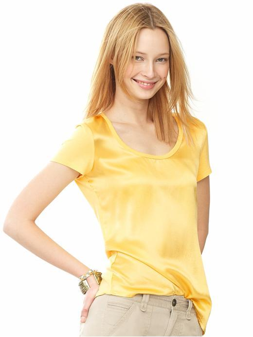 Banana Republic Satin-front tee