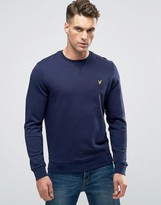 Lyle & Scott Crew Sweatshirt Eagle Logo in Navy