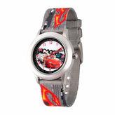 Disney Cars Boys Gray Strap Watch-Wds000026
