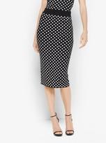 Michael Kors Sequined Polka Dot Pencil Skirt