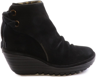 Fly London Yama Suede Wedge Bootie