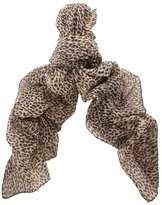Saint Laurent Leopard Loose Weave Signature Scarf