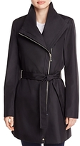 Calvin Klein Asymmetric Front Zip Trench Coat