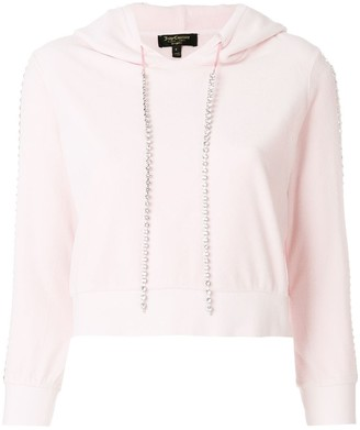Juicy Couture Exclusive Swarovkski embellished velour hoodie
