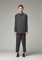 Issey Miyake Men's Pleats Shirt in Black Size 2 100% Polyester