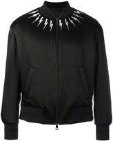 Neil Barrett lightning bolt bomber jacket - men - Polyamide/Acetate/Viscose/Cotton - L