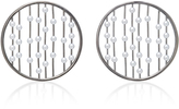 Fallon Prodigiam Pearl Disc Hoop Earrings
