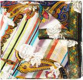 Etro embroidered scarf - women - Silk/Metallic Fibre - One Size