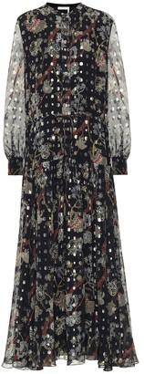 Chloé Printed fil-coupe silk midi dress