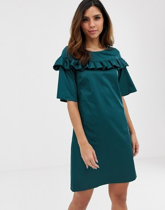 Closet London Closet frill detail tunic dress