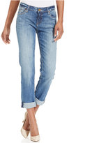 KUT from the Kloth Catherine Boyfriend Straight-Leg Cuffed Jeans, Fervent Wash