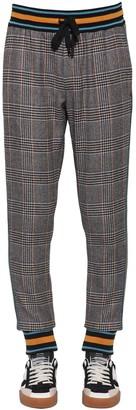 Dolce & Gabbana CHECKED WOOL BLEND PANTS