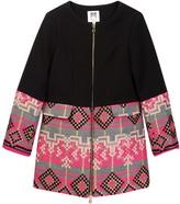 Milly Minis Combo Jacquard Coat (Big Girls)