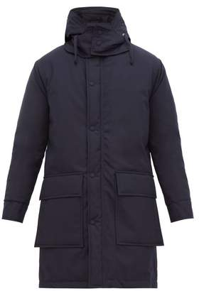 Officine Generale Albert Hooded Waterproof Canvas Parka - Mens - Navy