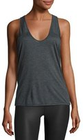 Alo Yoga Geometric Athletic Tank Top, Charcoal