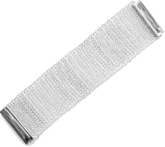 Lavish By Tricia Milaneze Hand-Made Silver Crochet Bracelet