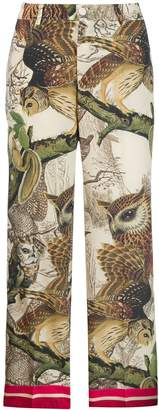 F.R.S For Restless Sleepers owl print trousers