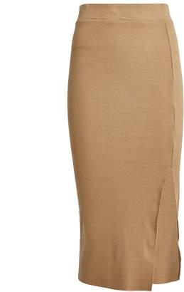 NSF Ribbed Knit Midi Skirt