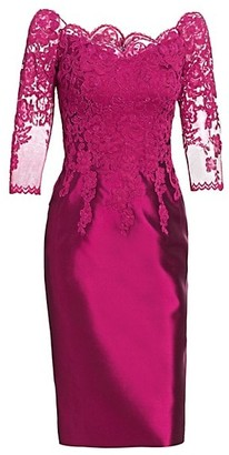 Helen Morley Lace Bodice Cocktail Dress