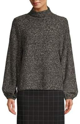 Lord & Taylor Balloon-Sleeve Textured Sweater