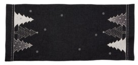 Manor Luxe Lovely Christmas Tree Embroidered Double Layer Table Runner