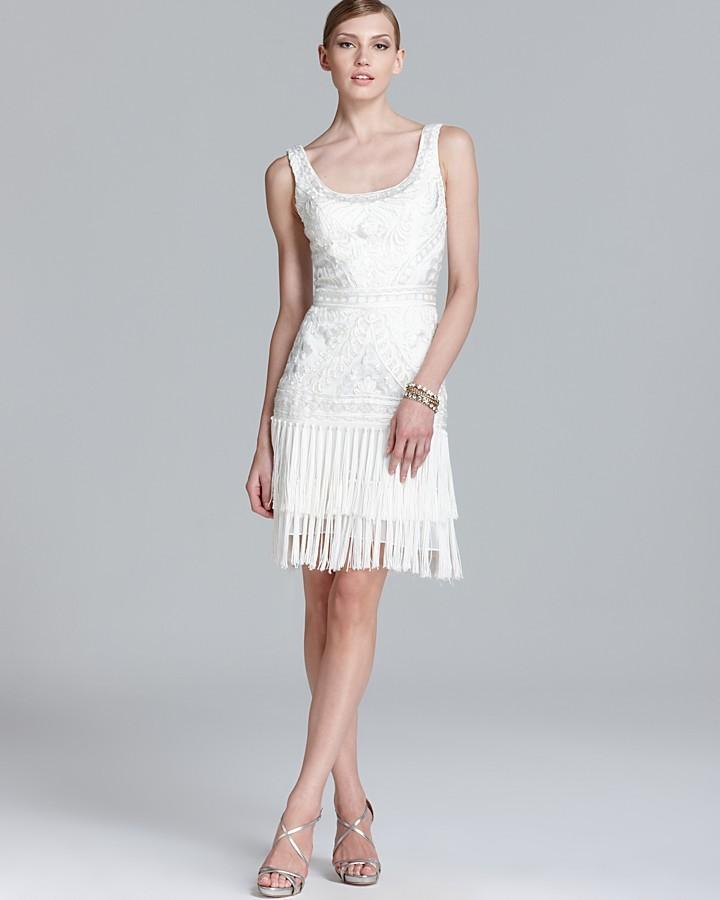 Sue Wong Scoop Neck Beaded Dress - Sleeveless