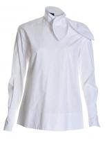 Eudon Choi SEGAL BOW SHIRT in White