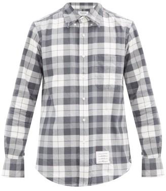 Thom Browne Tartan Cotton-flannel Shirt - Grey