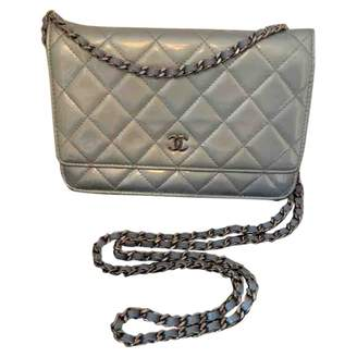 Chanel Wallet on Chain Blue Patent leather Handbags