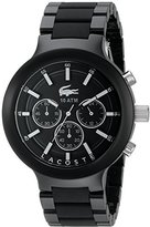 Lacoste Men's 2010770 Borneo Analog Display Japanese Quartz Black Watch