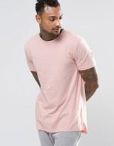 Asos Loungewear Longline T-Shirt In Pink Nepp