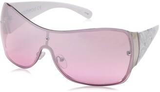 Southpole Women's 1024SP Over-Sized Rectangular Shield Sunglasses with 100% UV Protection 70 mm