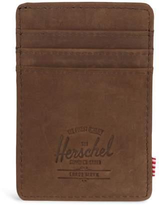 Herschel Raven Leather Card Holder