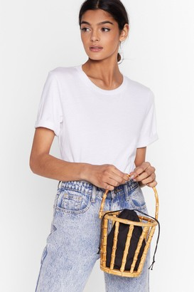 Nasty Gal Womens WANT Wooden Change a Thing Bucket Bag - Natural