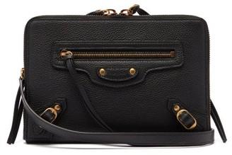 Balenciaga Neo Classic Small Grained-leather Cross-body Bag - Black