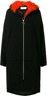 Marques Almeida Shearling Trim Coat