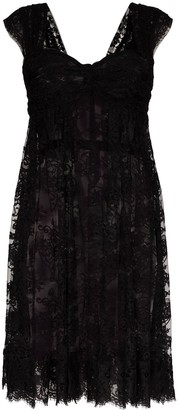 Dolce & Gabbana sheer lace mini dress