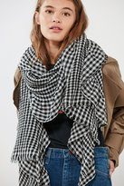 Urban Outfitters Gingham Ruffled Scarf