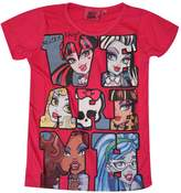 Monster High Official Girls Printed Short Sleeve Top Age