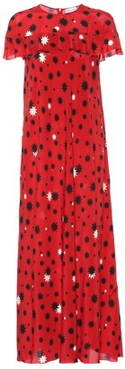 RED Valentino Printed silk maxi dress