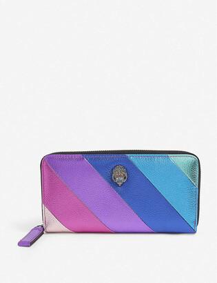Kurt Geiger Rainbow eagle-motif leather wallet