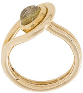 Pamela Love Lasso gold rutilated quartz ring